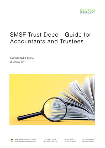 SMSF Trust Deed